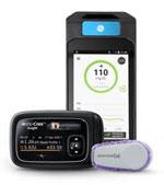 Accu-Chek® Insight mit DBLG1 von Diabeloop mit Dexcom G6 Real-Time-CGM-System (rtCGM)