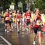 Läuferinnen und Läufer beim Berlin-Marathon.