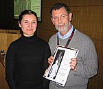 Marta Michalska und Prof. Dr. Tony Corfield