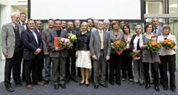 Preisträger des Berliner Gesundheitspreises 2008 mit Bundesgesundheitsministerin Ulla Schmidt