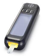 Das neue Bayer-Blutzuckermessgerät mit beleuchtetem Sensor