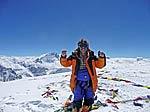 Diabetiker Geri Winkler auf dem Gipfel der Cho Oyu