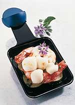 Raclette mit Hummerkrabben