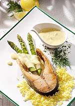 Spargel mit Lachskotelette