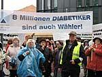 Diabetiker demonstrieren vorm G-BA