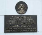 Gedenktafel Claire Waldoff