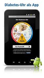 Diabetes-Uhr als App