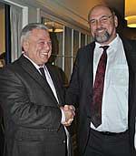 Wirtschaftsminister Harry Glawe beim deutsch-russischen Workshop mit russischem Experten