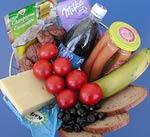 Korb mit Lebensmitteln