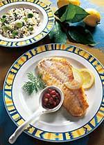Fischfilet mit Avocadoreis
