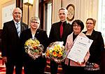 Preisträger mit Wolfgang Zöller und Claudia Berger