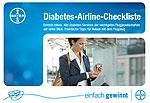 Die Diabetes-Airline-Checkliste von Bayer