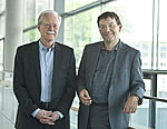 Prof. Wolfgang Koenig und Prof. Dietrich Rothenbacher