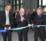 Brandenburgs Wissenschaftsministerin Kunst, TH-Präsident Ungvári und TK-Gesundheitsmanager Holm (v.r.n.l.)