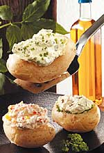 Gefüllte Kartoffeln mit Kräuterquark