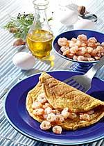Krabben-Omelette