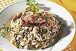 Pilz-Reis Förster Art mit Schweinemedaillons