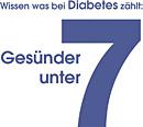 Logo 'Wissen was bei Diabetes zählt: Gesünder unter 7'