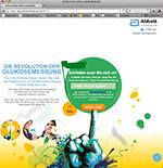 Screenshot der Website glucoseandersmessen.de