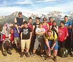 Kinder mit Diabetes und anderen Handicaps auf dem Berg