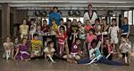 Schüler der St. Rochus-Schule mit Trainern des Sportwerks Düsseldorf beim Taekwondo-Training