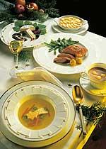 Weihnachtsmenü Entenbrust mit Calvados-Rahmsauce
