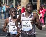 Dennis Kimetto und Emmanuel Mutai