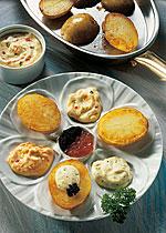 Gourmet-Kartoffeln mit Dips