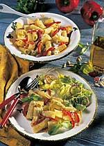 Röhrchen mit Basilikum-Pesto