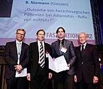 V. l. n. r.: Prof. Dr. A. Diegeler, Prof. Dr. J. Cremer, PD Dr. B. Niemann und Prof. Dr. H. Oelert