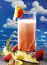 Erdbeer-Ananas-Drink