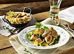 Putenpfanne mit Mangold und Kartoffelgratin