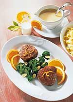 Rinderfilet in Orangen-Sahne-Sauce