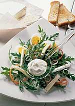 Rucola-Salat mit Rahm-Dressing
