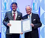 Privatdozent Dr. Christoph Lübbert und Professor Manfred Weber