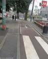 Zebrastreifen über Fahrradweg