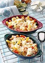 Fischragout mit Mozzarella
