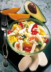 Fruchtiger Reissalat mit Mozzarella