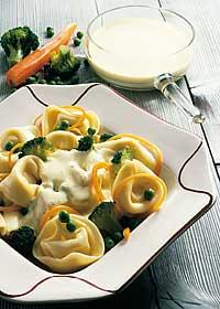 Tortelloni mit frischem Gemüse