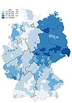 Häufigkeit Typ-2-Diabetes in Deutschland
