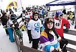 Jugendliche mit Diabetes und Asthma beim Training für den CJD-Skimarathon