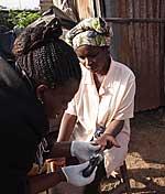 Wissenschftler/innen testen Blutzucker und andere Parameter