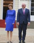 Steinmeier und seine Frau Elke Büdenbender