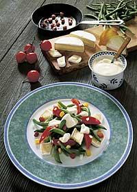 Bohnen-Käse-Salat