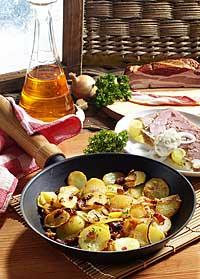 Bratkartoffeln mit Sülze und Remoulade