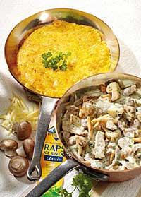 Pilzgeschnetzeltes mit Käserösti