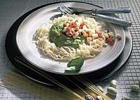 Spaghettini mit Bohnenpüree leicht