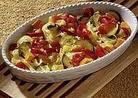 Überbackene Nudeln mit Kürbis-Zucchini-Paprika-Gemüse