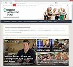 Screenshot der Startseite des Diabetesinformationsdienstes