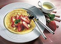 Erdbeer-Pfannkuchen